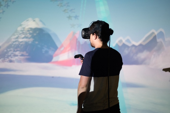 As Part Of A Showcase New VR Works In Celebration Labs 1st Anniversary Organized By Lindsay Howard Superbright 3D Design Radimir Koch